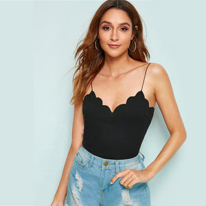 Scallop Trim Top - DreamBoutiquee