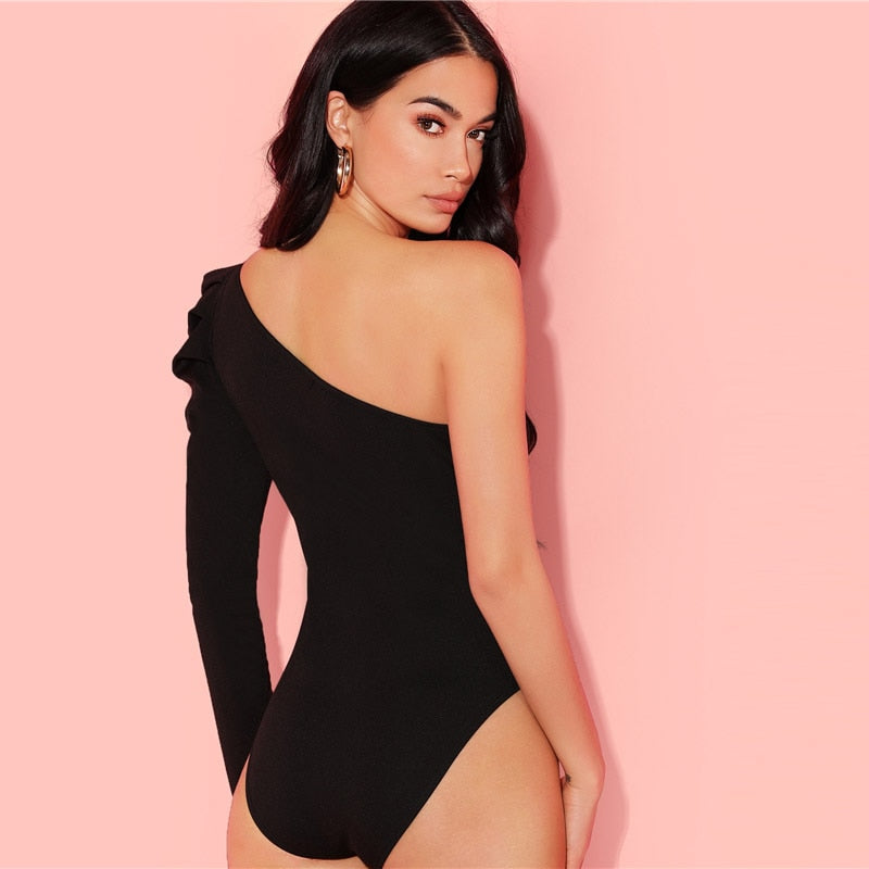 One Shoulder Bodysuit - DreamBoutiquee