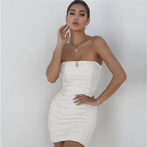 Party Ruched Mini Dress - DreamBoutiquee