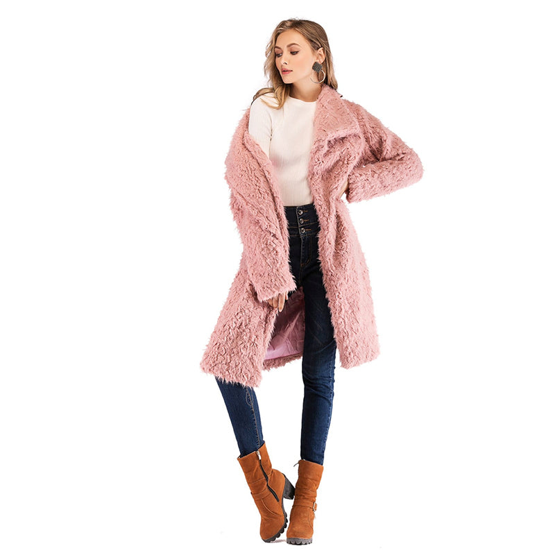 Collar Teddy Coat - DreamBoutiquee