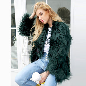 Emerald Green Wavey Coat - DreamBoutiquee