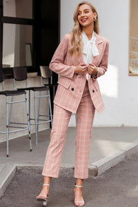 Fashion plaid blazer suits - DreamBoutiquee
