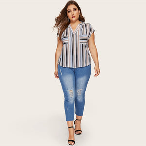 Striped Blouse - DreamBoutiquee