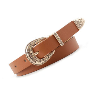 Stylish Retro Caving Pin Buckle Belts - DreamBoutiquee