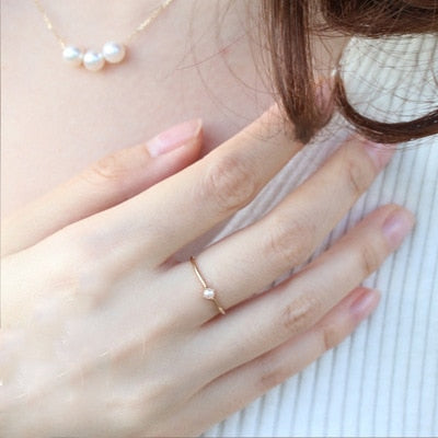 Mini Pearl Rings - DreamBoutiquee