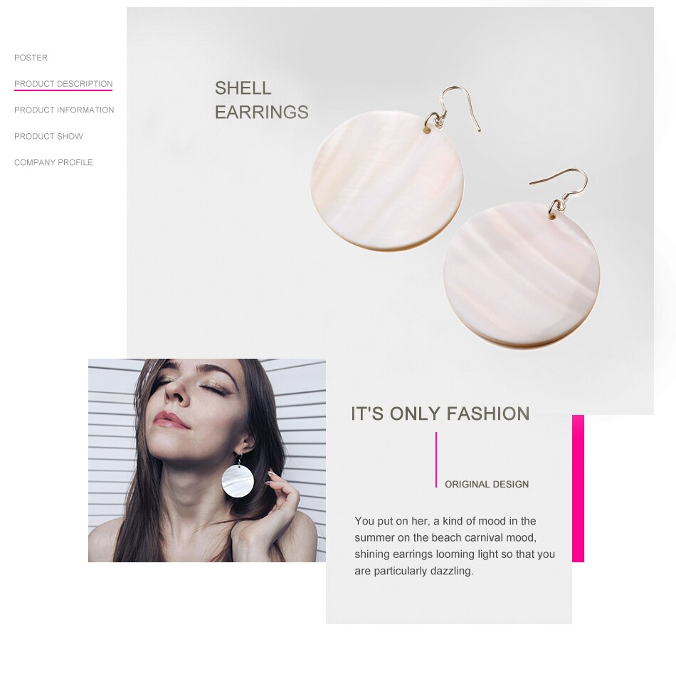 Round Shell Earrings - DreamBoutiquee