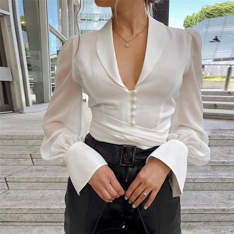 Long Bow Blouse - DreamBoutiquee
