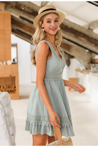 Lace Embroidery Dress - DreamBoutiquee