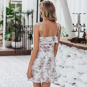 Floral Chiffon Dress - DreamBoutiquee