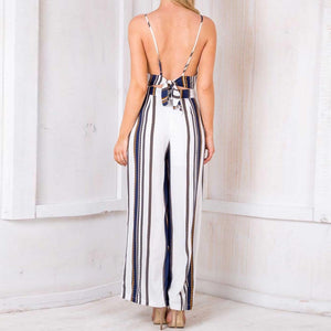 Sleeveless Strip Jumpsuit - DreamBoutiquee