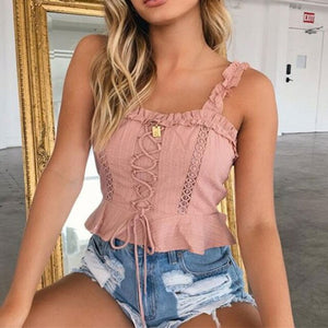 Lace White Crop Top - DreamBoutiquee