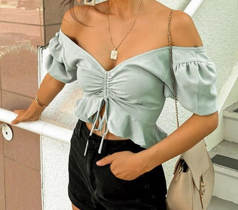 Beach Chiffon Crop Tops