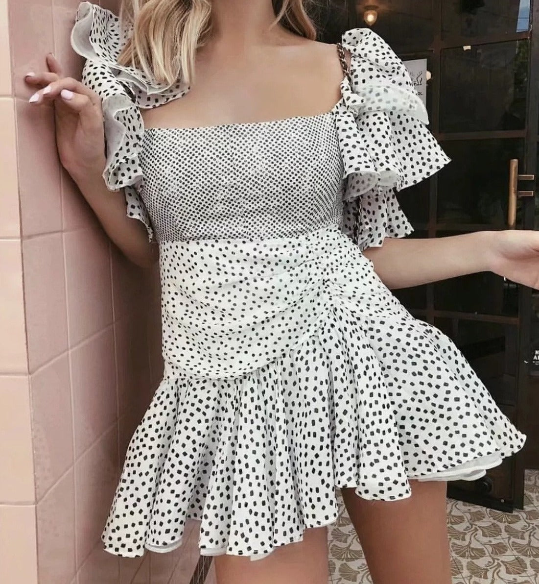 Off Shoulder Chiffon Party Dress - DreamBoutiquee