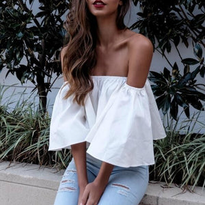 Flare sleeve Off Shoulder Blouse