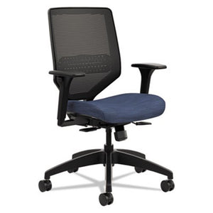 Solve Mesh Back and Upholstered Seat Mid-Back Chair
