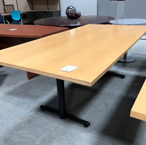 "Conference Table 84""x42"" - Maple Top - Black Base"