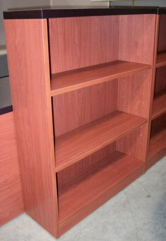 Groupe Lacasse 3-Shelf Bookcase 48H Cherry