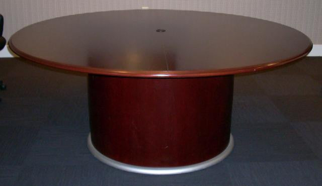 Nevers Custom Conference Table Round OSI Outlet - Oval conference table for 6