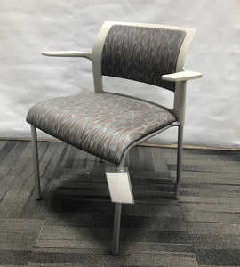 Steelcase Move Guest Chair with Arms, Upholstered Vinyl: Sea Willow Midnight