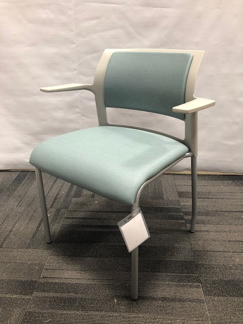 Steelcase Move Guest Chair with Arms, Upholstered Vinyl: Strand Alcove