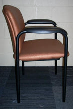 HON H4605 Tiempo Side Chair with Orange Cirque Vinyl