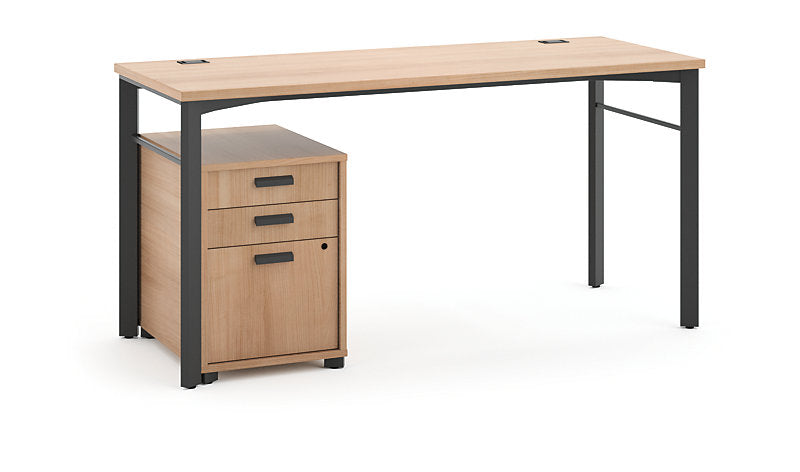 Manage Table Desk with Mobile Pedestal