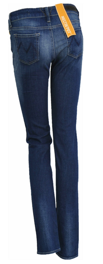 JEANS DENIM DONNA RAGAZZA SKINNY ZIP MARCA MELTIN POT ART. MADOLINED2050 UK111