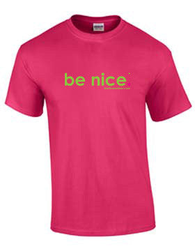 be nice. Short Sleeve Tee - Helconia Color