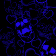 Load image into Gallery viewer, Blue Skulls Mask