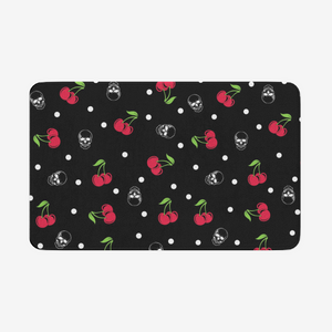 Cherry Skull Door mat