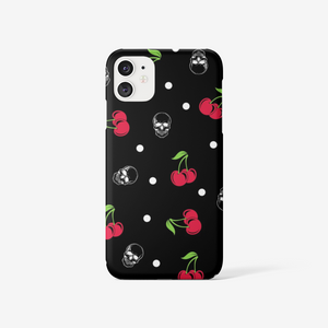Cherry skull phone case