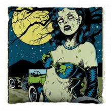 Zombie pin up pillow