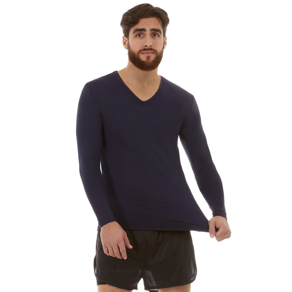 Men's Ultra Soft Thermal V-Neck Shirt - Thermaljbrands