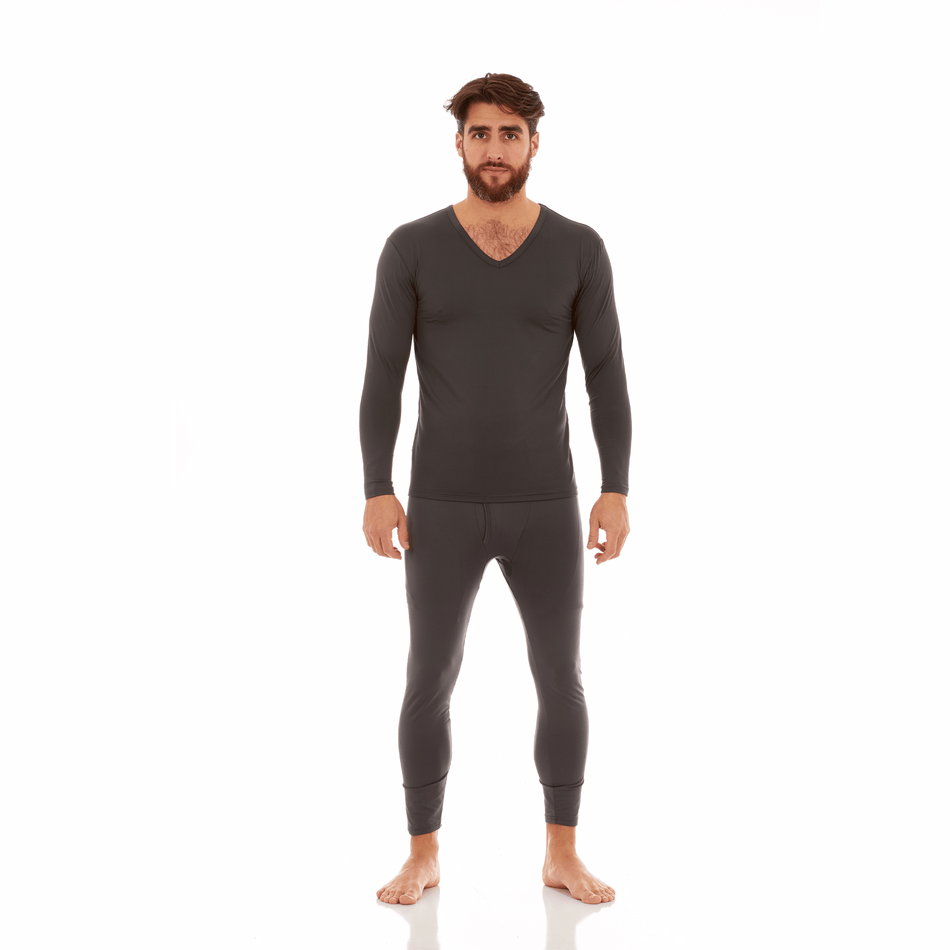 Men's Ultra Soft Thermal V-Neck Set - Thermaljbrands