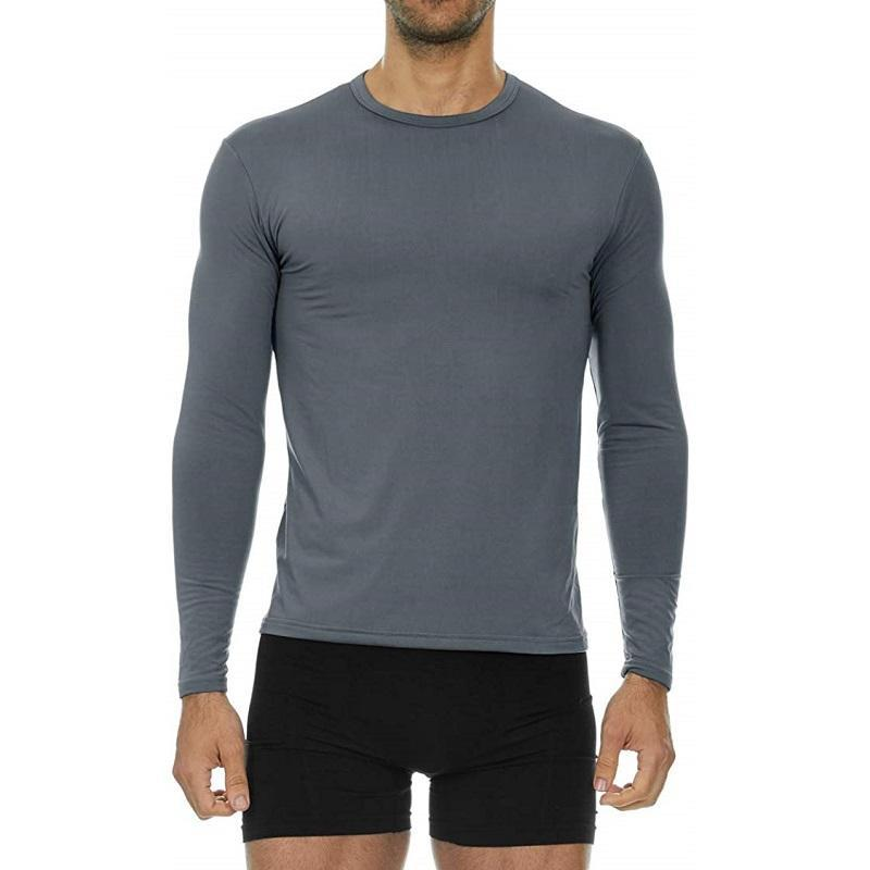 Men's Ultra Soft Thermal Baselayer Shirt Thermaltopsmen Thermajohn Charcoal XS