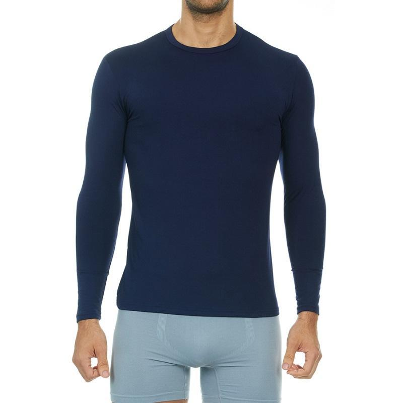 Men's Ultra Soft Thermal Baselayer Shirt Thermaltopsmen Thermajohn Navy XS
