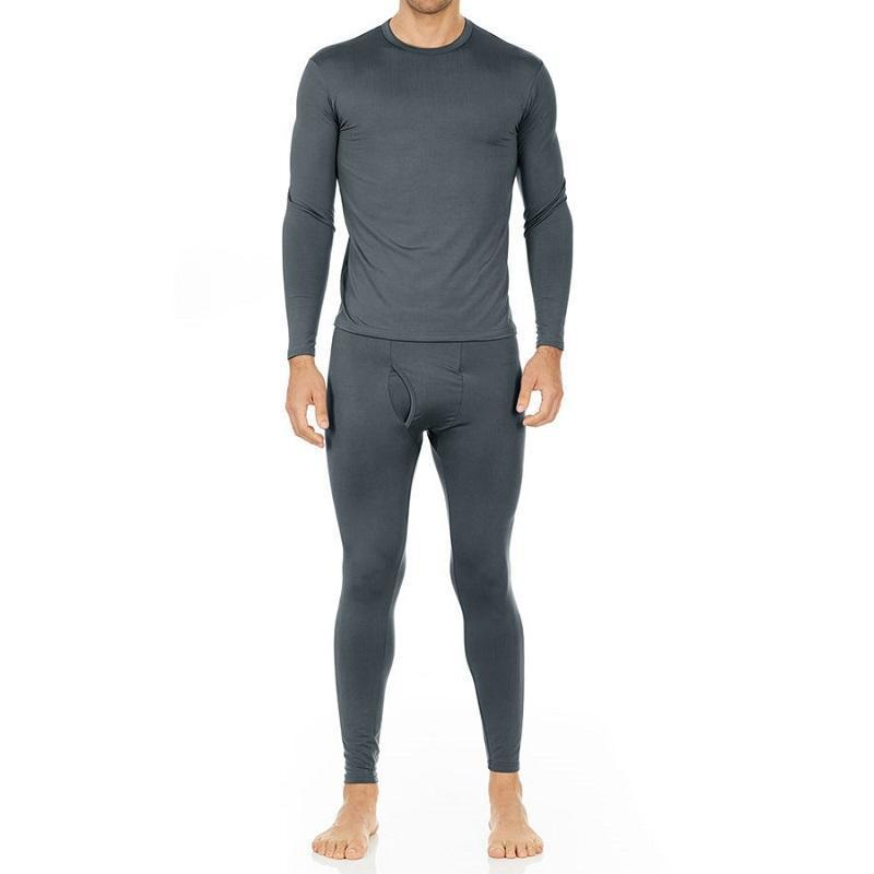 Men's Ultra Soft Thermal Underwear Set Thermalsetmen Thermajohn Charcoal XS
