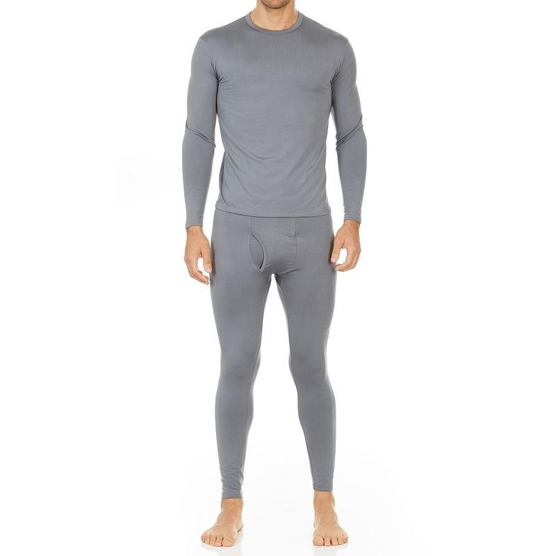 Men's Ultra Soft Thermal Underwear Set Thermalsetmen Thermajohn Grey XS