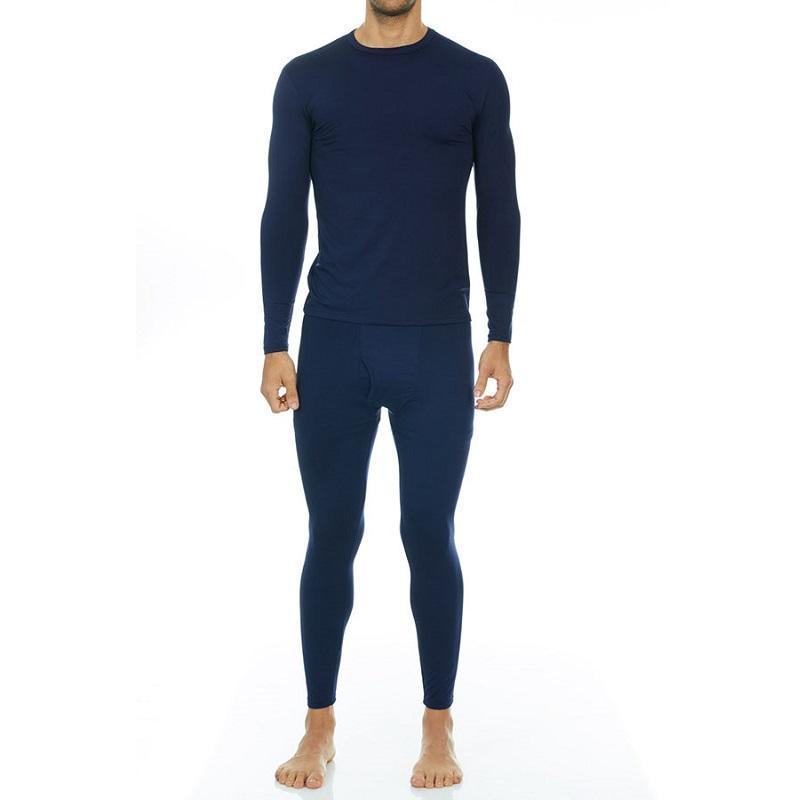 Men's Ultra Soft Thermal Underwear Set Thermalsetmen Thermajohn Navy XS