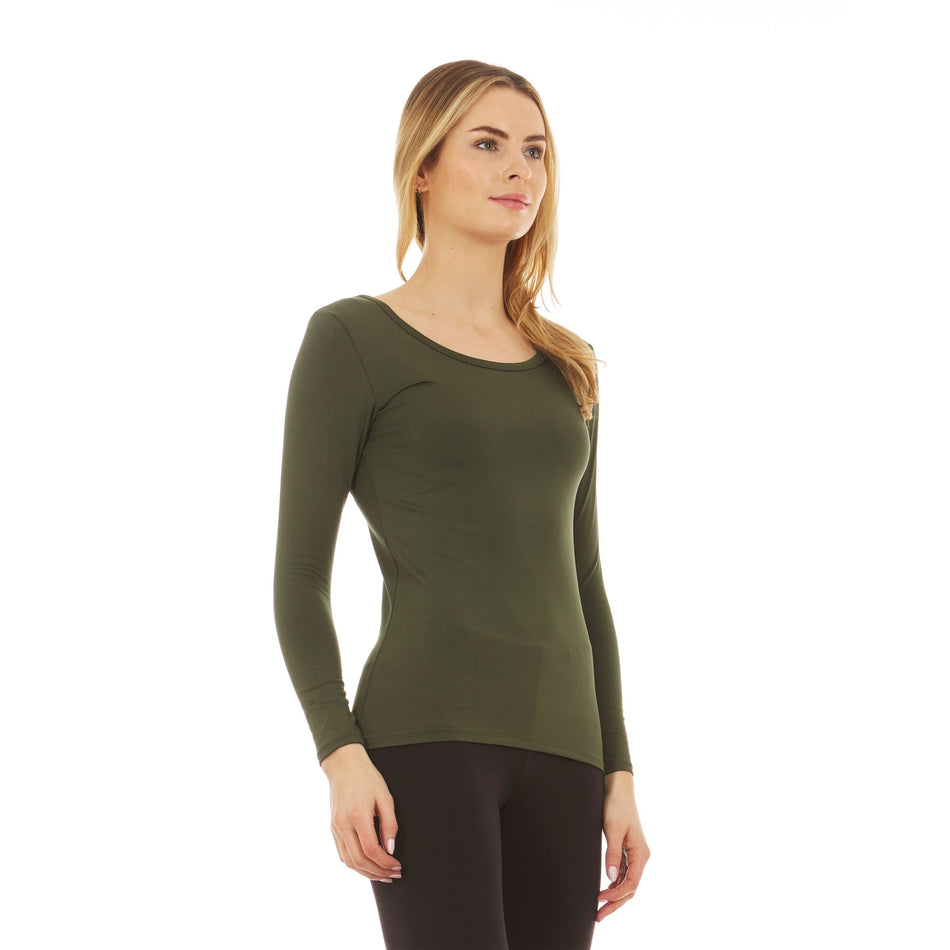 Women's Ultra Soft Thermal Scoop Neck  Shirt - Thermaljbrands