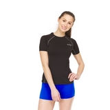 Women's Athletic Compression Shirt - Short Sleeve - Thermaljbrands