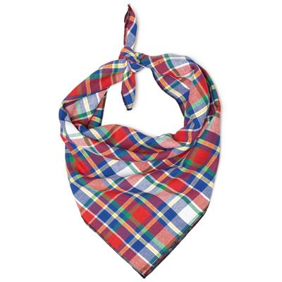 Red/Hunter/Blue Plaid Bandana