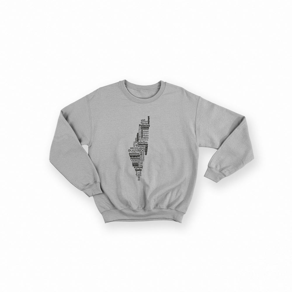 Palestine Map - Sweatshirt