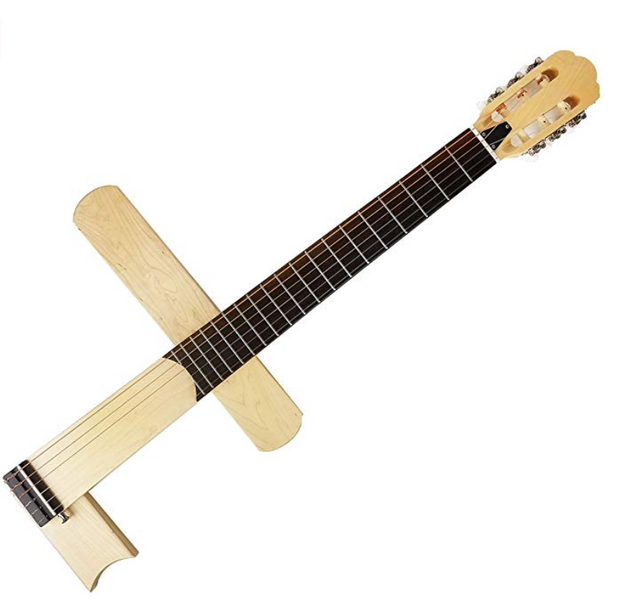 Cross Guitar 1.0 Nylon-String : Folding/Foldable Classical Acoustic Silent guitar with Gig Bag[CRS1-N] - Cross Guitar - World's 1st Innovative crossing guitar