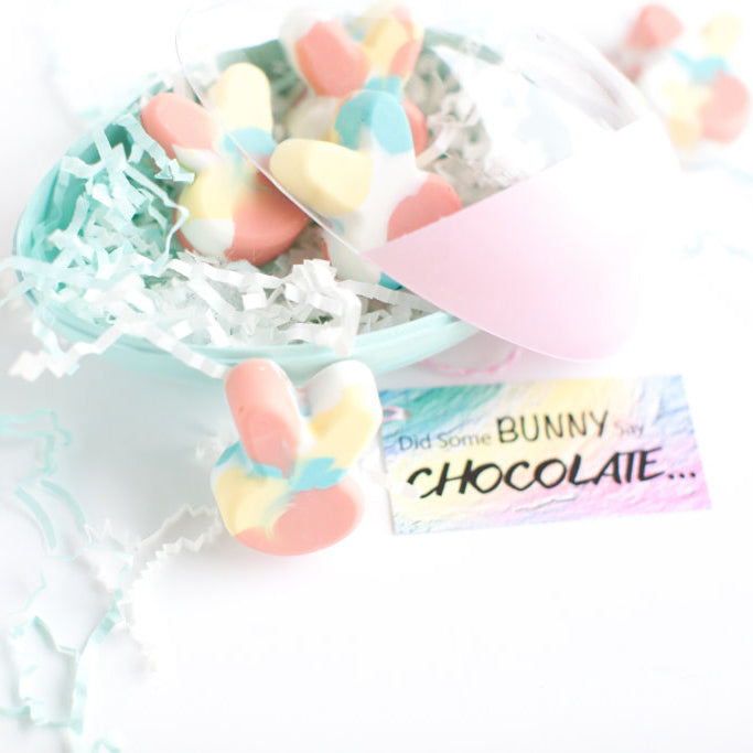 """Did Some Bunny Say Chocolate""? - DIY Marble Bunny Treats"