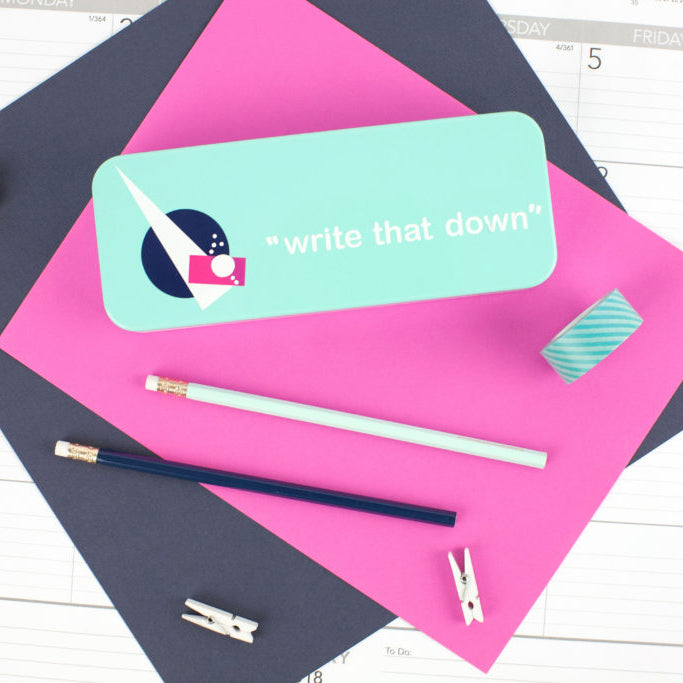 Write That Down DIY Pencil Case