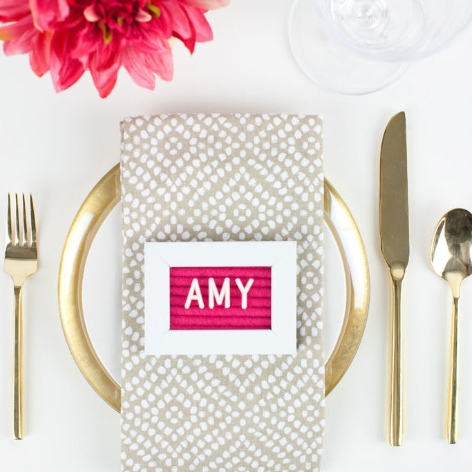 Mini DIY Memo Place setting