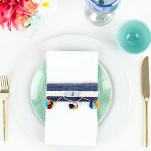 Pom Pom DIY Table Setting