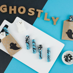 Ghostly Chocolate Splatter Treats
