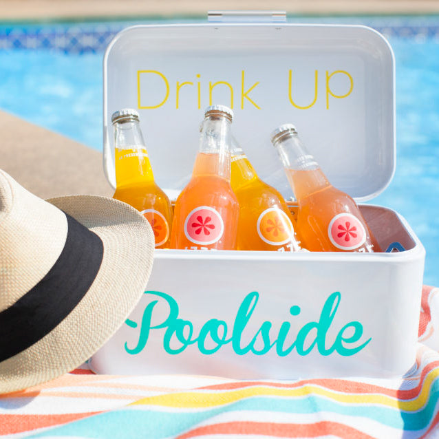 Drink Up Poolside - DIY Drink Cooler